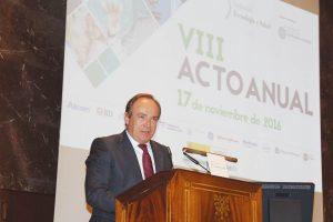 José Javier Castrodeza en un momento de su discurso.